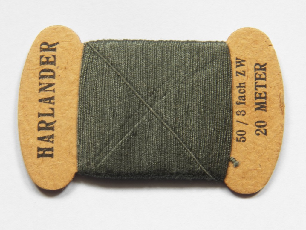 WEHRMACHT FIELD GREY SEWING THREAD  Malcolm Wagner Militaria