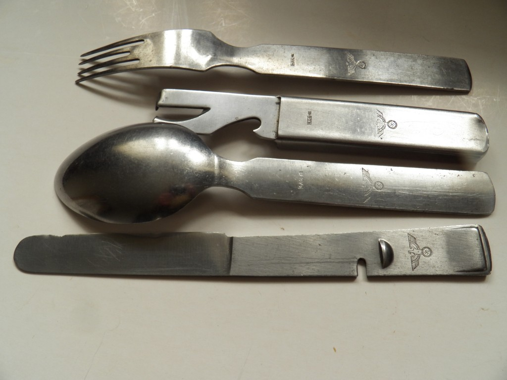 Wehrmacht Knife Fork Spoon Can Opener Malcolm Wagner