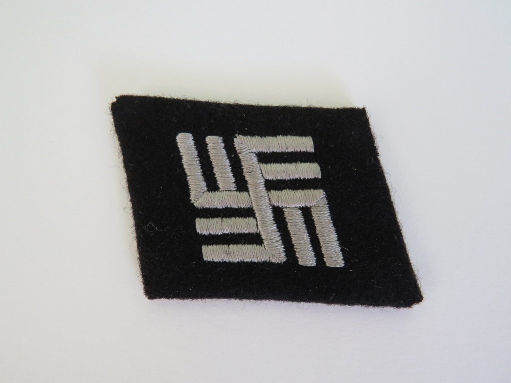 Waffen Ss Collar Patch Malcolm Wagner Militaria